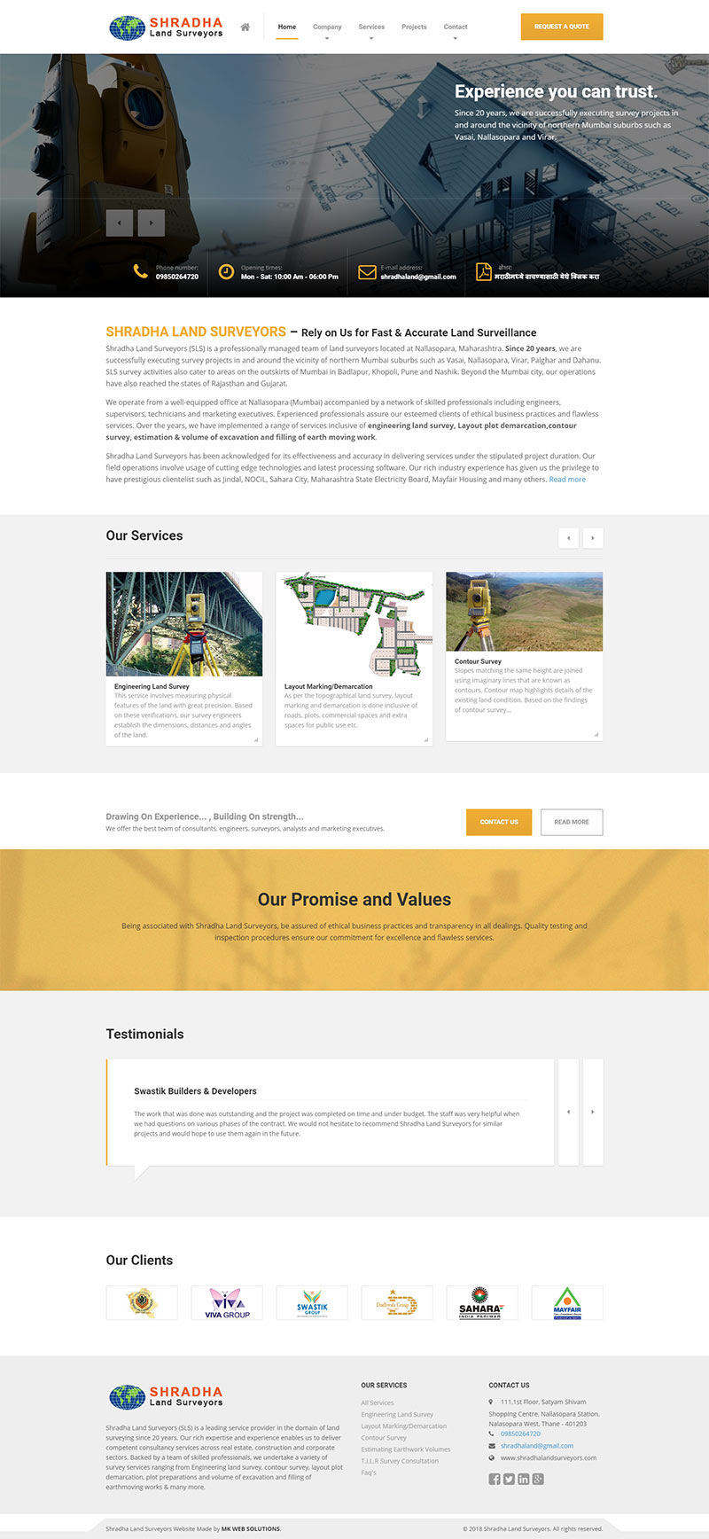Web Design for Land Surveyors